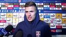 Tadić Rajković i Mitrović nakon pobede protiv Crne Gore 17 11 2018