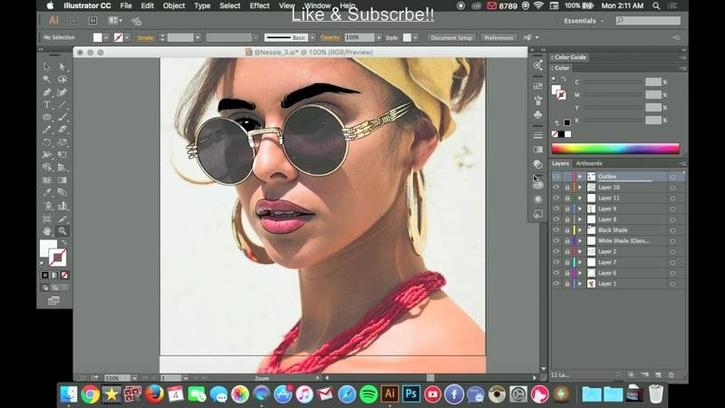 How I Outline/Sketch My Art | SpeedArt | Adobe Illustrator