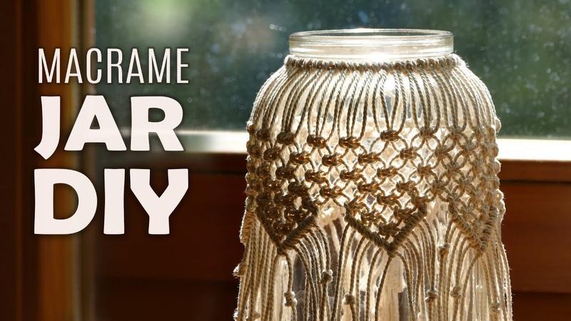 DIY Macramé Jar Cover | Boho Candle Holder Tutorial