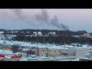 Недостроенный дом загорелся на окраине Череповца