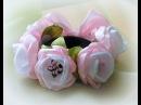Резинка на гульку из цветов канзаши/Eraser on a bunch of flowers of Kanzashe