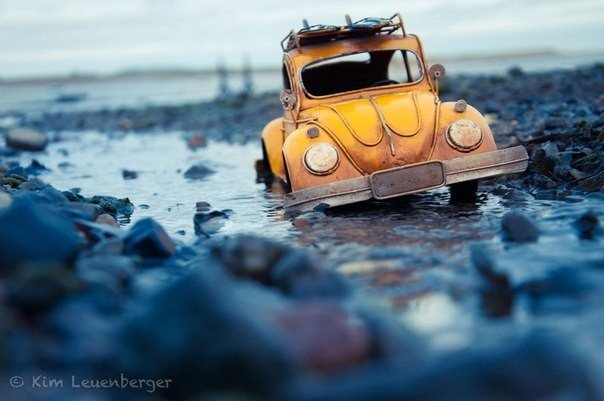 Чудесные миниатюрные машинки в фотографиях Kim Leuenberger