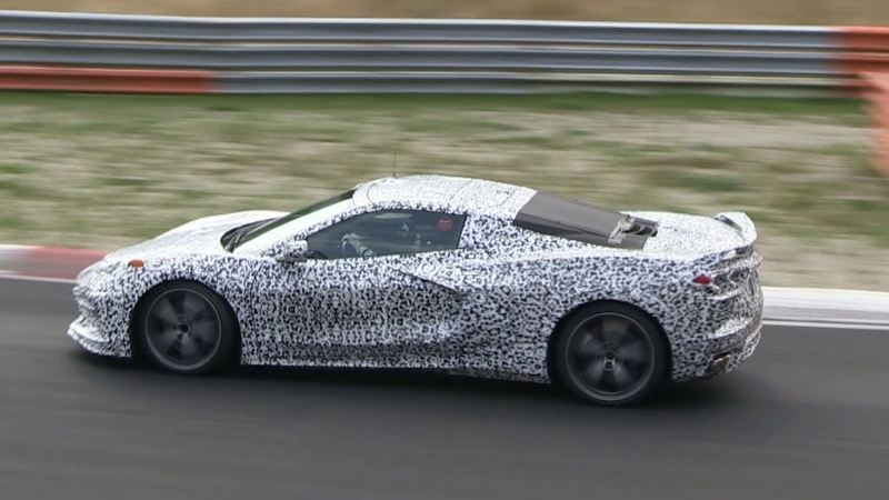 Mid-engined Chevrolet Corvette C8 pushed hard at the Nurburgring