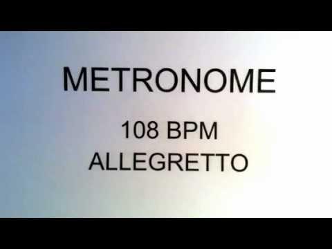 METRONOME 108 BPM ALLEGRETTO