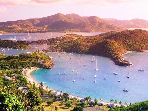 Остров Антигуа в Карибском море,