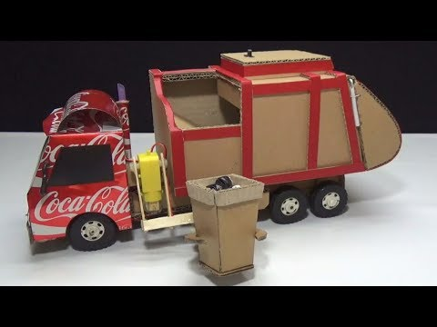 How to make RC Garbage Truck Amazing from Coca Cola and Cardboard DIY
