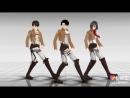 Shingeki no kyojin| Levi, Eren and Mikasa