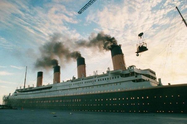 """На съемках фильма """"Титаник"""""""