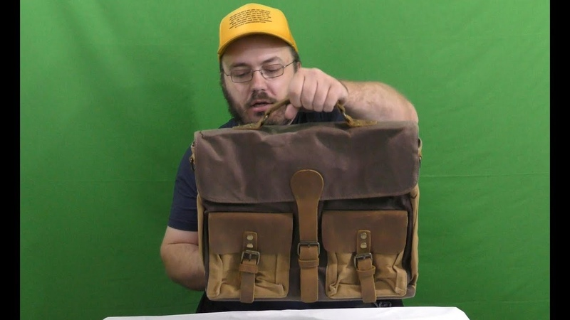 Leather Messenger Bag Laptop Bag With Shoulder Strap Retro Steampunk Buckles