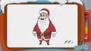 How to Draw a Santa Claus Step By Step Drawing for Kids Christmas Videos by Mocomi