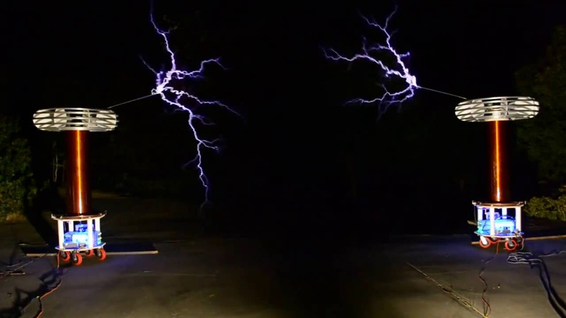 Tesla coils play House of the Rising Sun