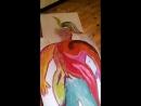 рисование своего фантома на зимних каникулах в Горном Алтае
