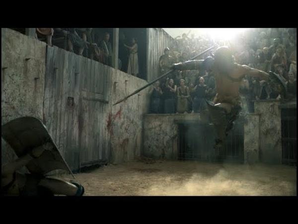 Первый бой Крикса. Spartacus.