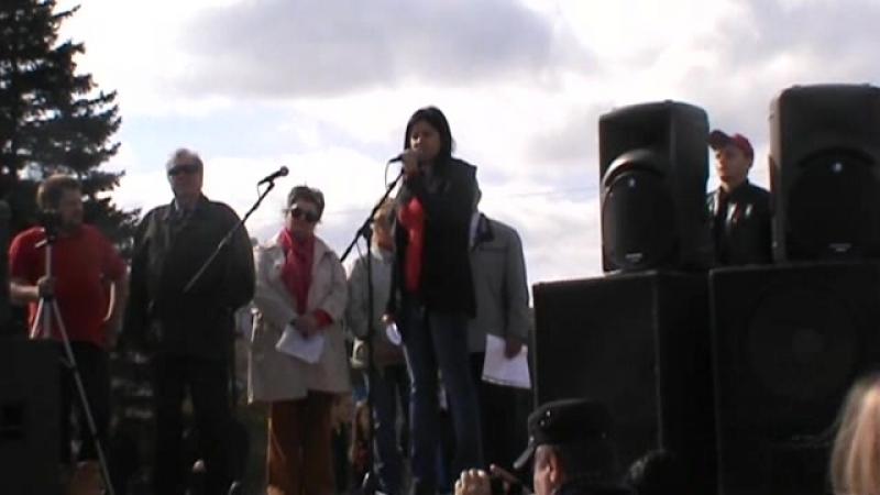 Митинг КПРФ 22 09 г Барнаул Нет повышению пенсионного возраста первый секретарь крайкома КПРФ Прусакова