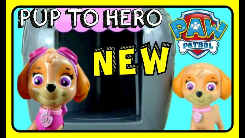 Paw Patrol Pup To Hero Playset SKYE! Transform Paw Patrol Pups Inside Pup House! NEW TOYS