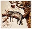 """Оригинал - Схема вышивки  """"Кот на дереве """" - Схемы автора  """"becyona """" - Вышивка крестом."""