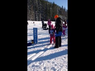 Первый старт на лыжных гонках 26.02.2017