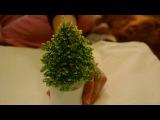 Рукодельная елочка из бисера