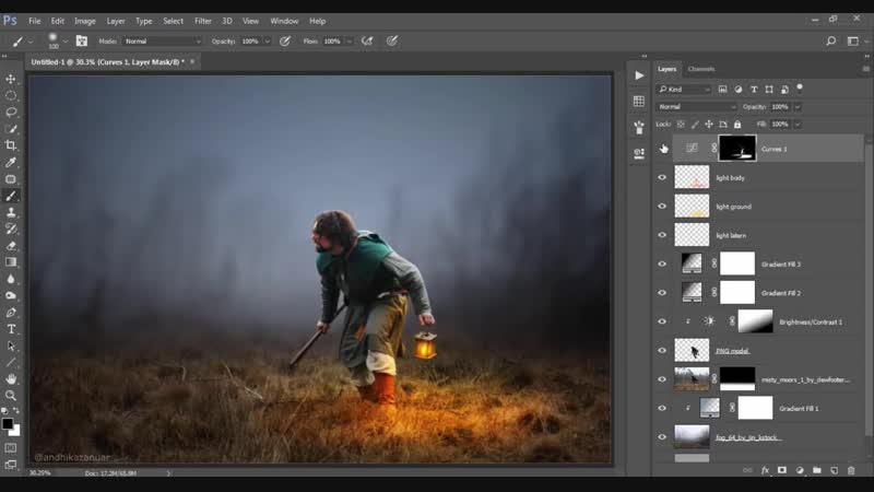 Photoshop Manipulation Tutorial Adding Light Effects in Photoshop