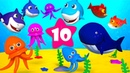 Ten Little Fish - Learn To Count to 10 - Children counting Song Numbers 1 thru 10