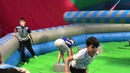 Total wipeout the sweeper rush trampoline park