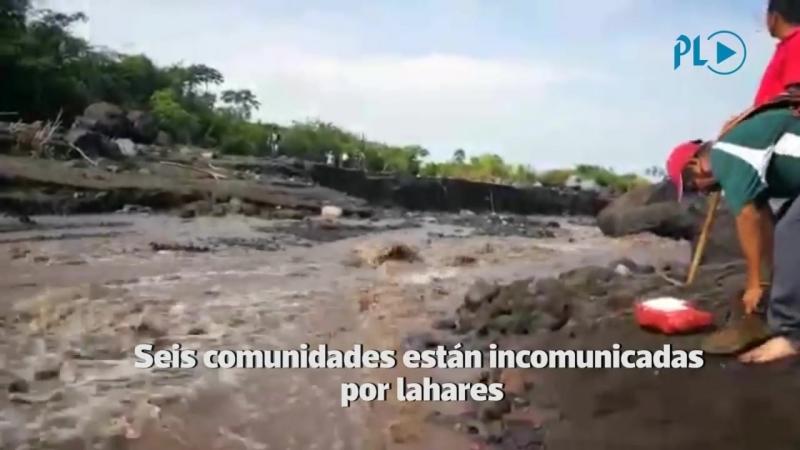 Lahar deja incomunicadas a seis comunidades ¦ Prensa Libre