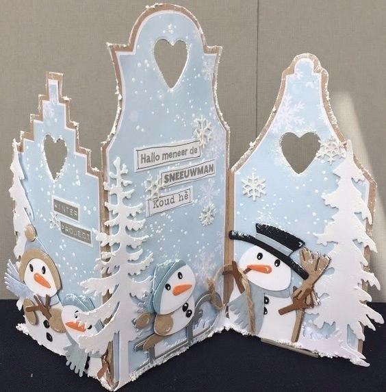 Красивой открыткой, открытка с объемным снеговиком своими руками