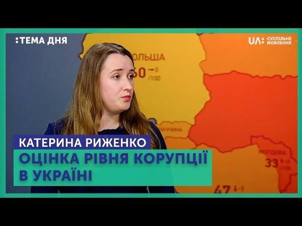 Тема дня. Катерина Риженко. Оцінка рівня корупції в Україні