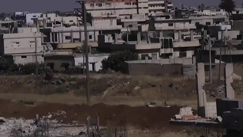 Сирия.Декабрь 2018.Курды подорвали пикап протурецких боевиков в районе Африна