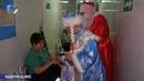 В стоматологии пациентов встретили Дед Мороз и Снегурочка