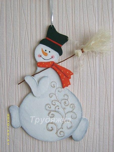 Снеговик своими руками фото из картона