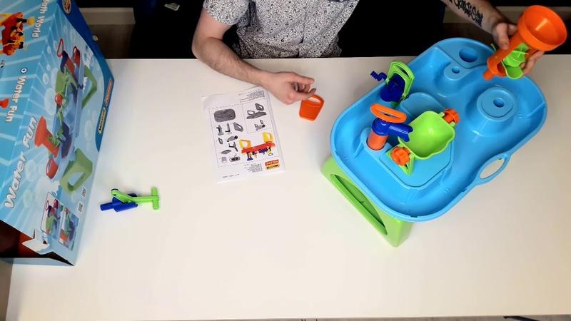 Папа в курсе. 4 выпуск. Распаковка и сборка игрушки для ванной комнаты.