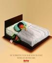 Реклама матраса с антистрессовой тканью: Проблемы дня не беспокоят вас по ночам