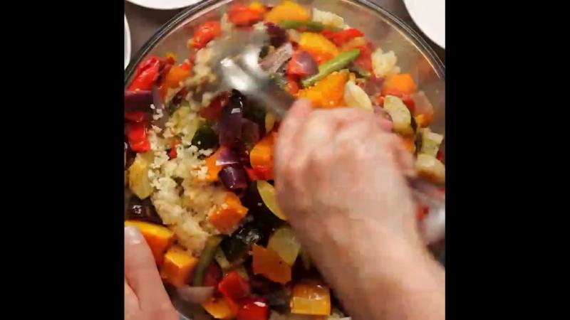 Кускус с овощами (Английский язык)