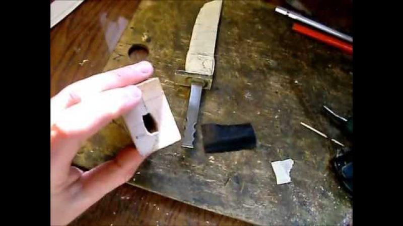 Основы ножеделия - рукоять из карельской берёзы