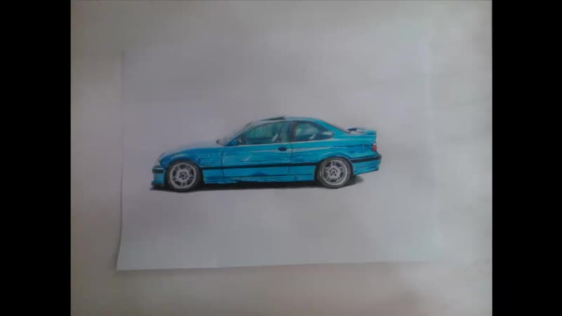 BMW M3 e36 Drawing [] Как нарисовать БМВ М3 е36