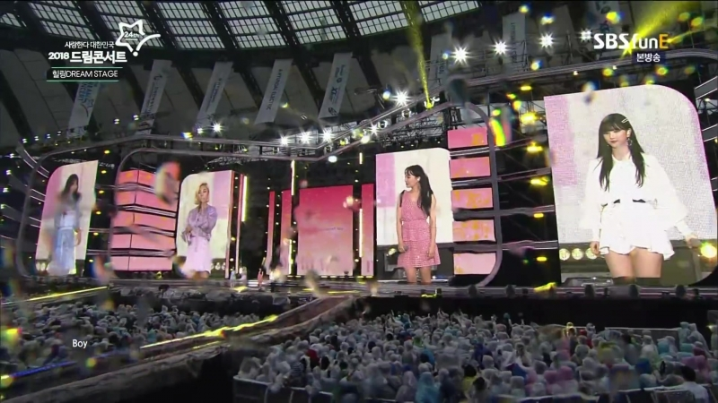 Wheein Mamamoo Seulgi Red Velvet Eunha GFriend And Younha Password 486 @ 2018 Dream Concert 180512
