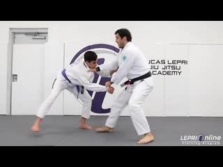 Lucas Lepri - Kouchi Gari Fake to Collar Drag to Single Leg Takedown