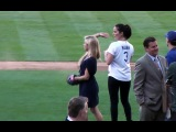 Olivia Munn Pitching Lessons at Dodger Stadium - Star of Fox's New Girl & HBO's The Newsroom