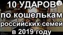 10 ударов по кошелькам россиян в 2019 году