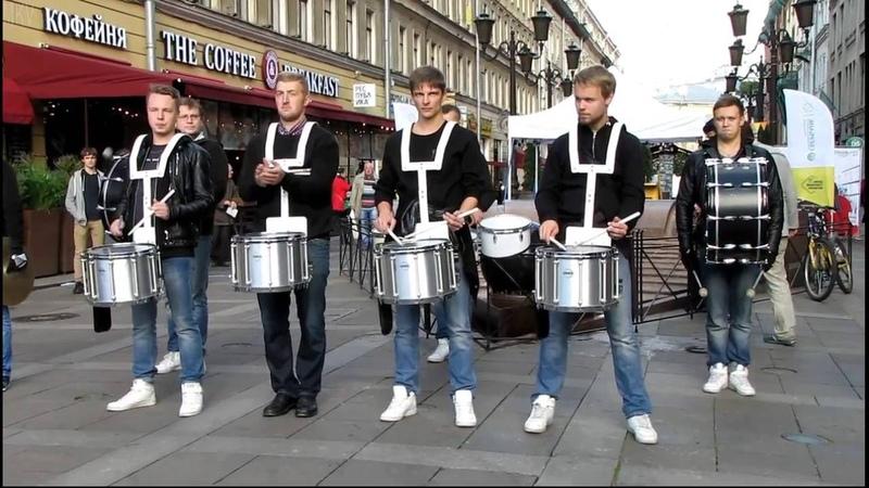 Барабанное шоу DRUM TIME streetmusicday 25 09 2016 SPb