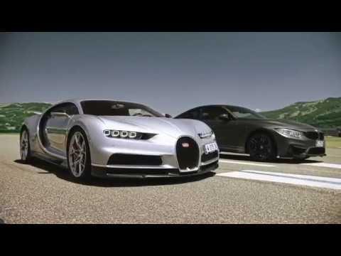 Bugatti Chiron vs BMW M4 *drag race*