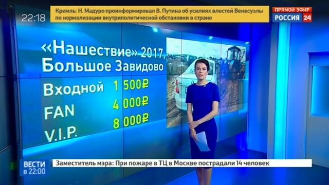 Новости на Россия 24 • Фестиваль Нашествие чуть не захлебнулся в грязи и незаконном алкоголе