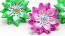 ЦВЕТЫ ИЗ ОРГАНЗЫ И РЕПСОВОЙ ЛЕНТЫ 🌸 FABRIC FLOWERS TUTORIAL 🌸 DIY