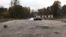 Audi S4 C4 2.2 turbo quattro drift in a parking lot