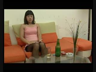 Sexy chinese navel stab