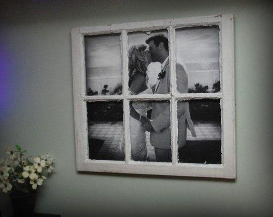 Большая фотография + старая оконная рама = невероятно стильный декор интерьера