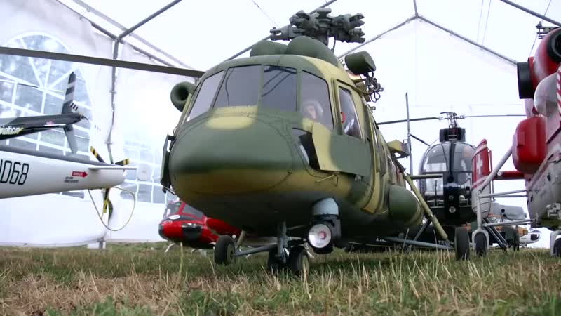 STUNNING GIGANTIC XXXL Mil Mi-8 AMT RC TURBINE SCALE MODEL RUSSIAN HELICOPTER FLIGHT DEMONSTRATION