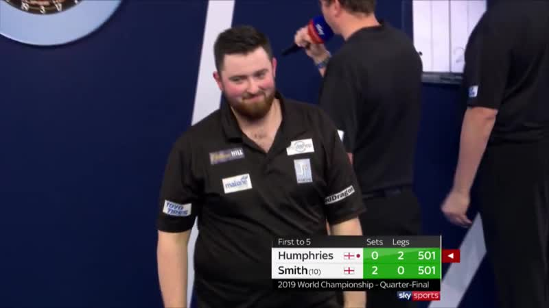 2019 PDC WORLD CHAMPIONSHIP | 170 FINISH FROM HUMPHRIES