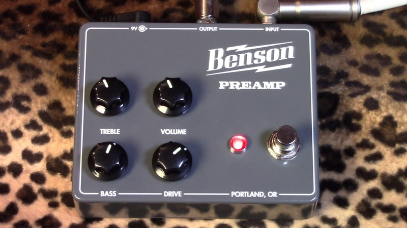 Benson Amps PREAMP pedal demoed with Fender Telecaster